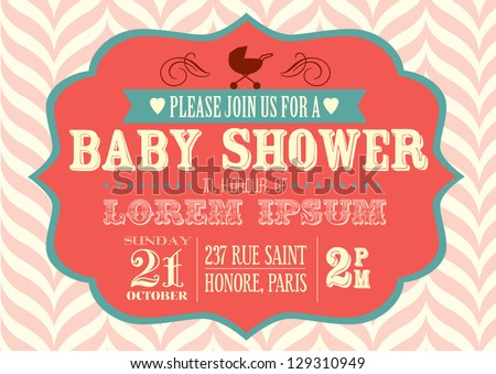 Free baby shower vector download free vector art stock graphics baby shower invitation template vectorillustration stopboris Image collections