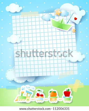 Baby shower invitation vector background