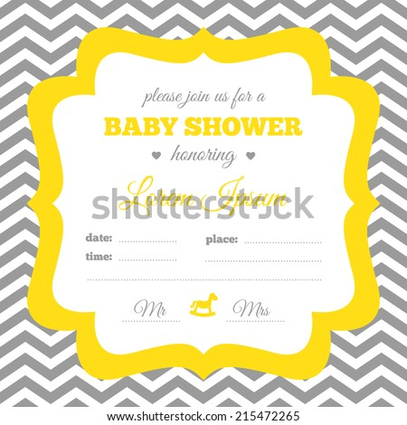 baby shower invitation white