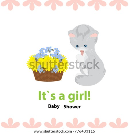 baby shower invitation with