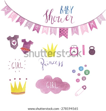 baby shower set for girl