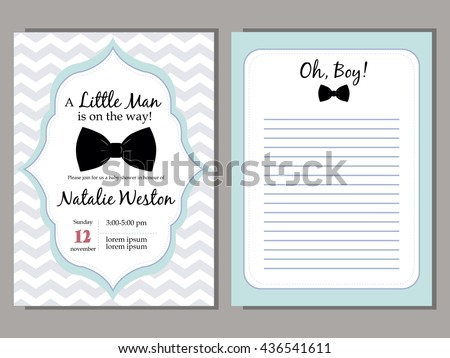 baby shower vector blue