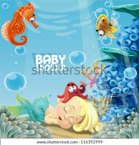 baby shower with sleeping sweet