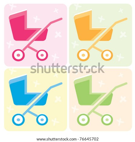 Baby stroller with background