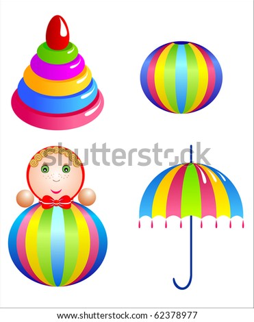 Baby toy set. Vector-Illustration.