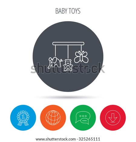 baby toys icon butterfly