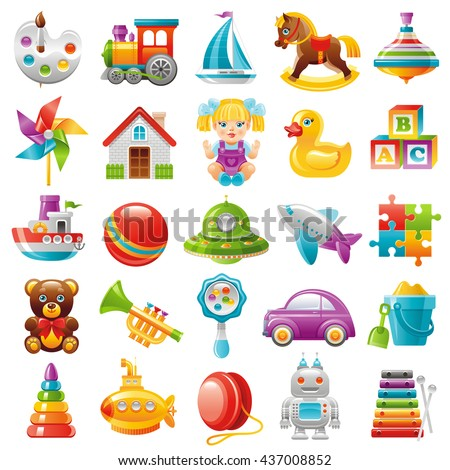 baby toys icon set  palette