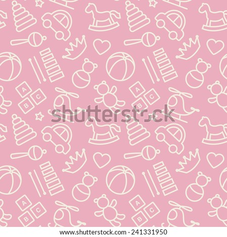 Baby toys seamless pattern.