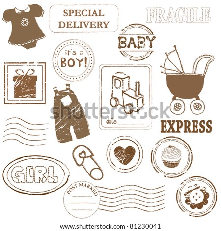 Baby Vector stamp collection