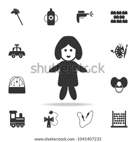 Babyish icon. Detailed set of baby toys icons. Premium quality graphic design. One of the collection icons for websites, web design, mobile app on white background