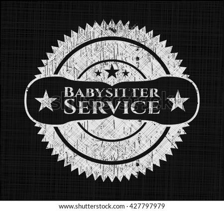 Babysitter Service chalk emblem
