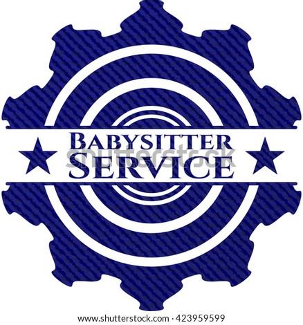Babysitter Service denim background