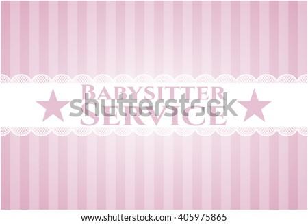 Babysitter Service poster or banner