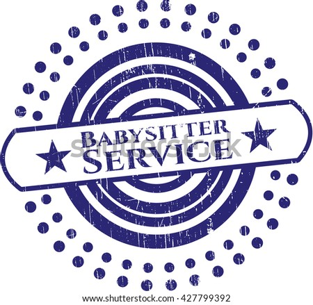 Babysitter Service rubber grunge seal