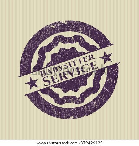 Babysitter Service rubber grunge stamp