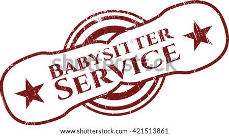 Babysitter Service rubber texture