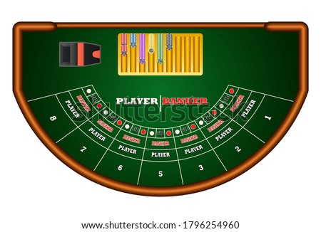 Baccarat table isolted on white background.Graphic vector Stock photo ©