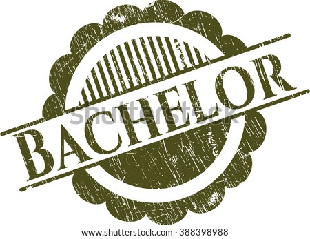 Bachelor rubber grunge seal