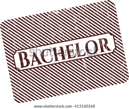 Bachelor rubber grunge texture stamp