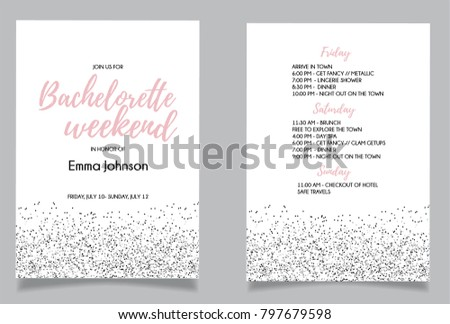 Girls night out invitation vectors download free vector art stock bachelorette weekend calligraphy invitation card vector lettering design with white background stopboris Gallery