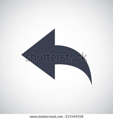 Back arrow in flat style