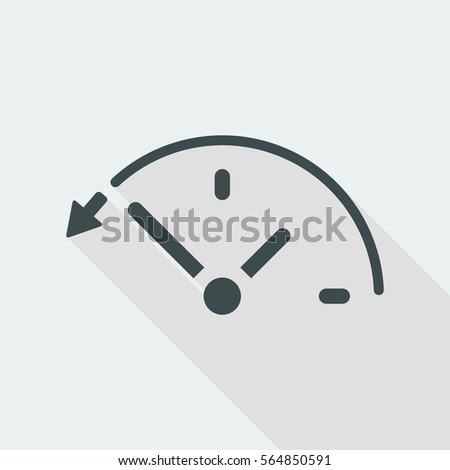 Back in time button - Vector web icon