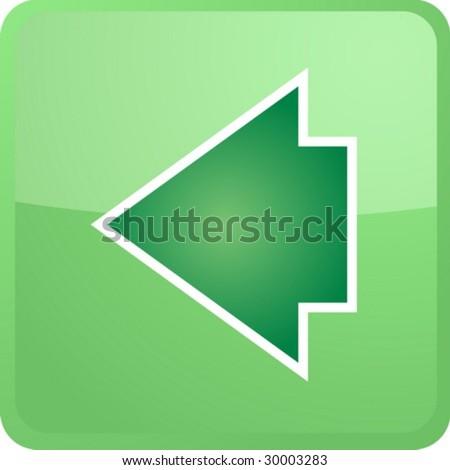 Back Icon Logo Back Navigation Icon Glossy