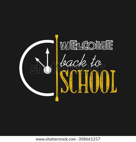 Back to School, Back to School Designs, Vector Set - stock vector