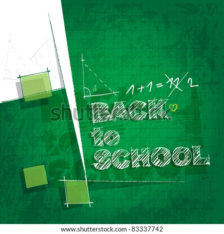 back to school background - artistic style