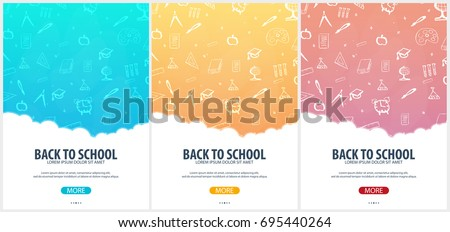 Back to School background. Education banner. Vector illustration