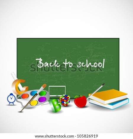 Back to school background. EPS 10.