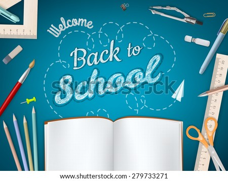 back to school background eps