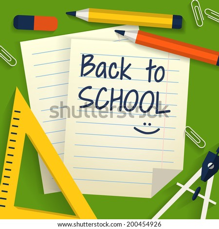 Back To School Background With Stationery Lined Sheets Of Paper – Lined Stationary Paper