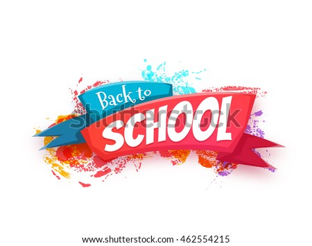 back to school banner with