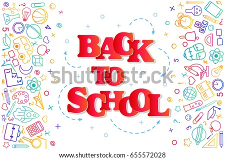 stock-vector-back-to-school-banner-with-texture-from-colorful-line-art-icons-of-education-science-objects-and