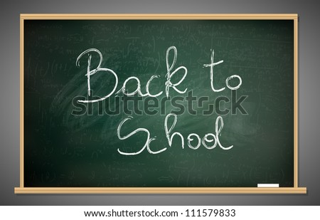 Back to school blackboard - stock vector