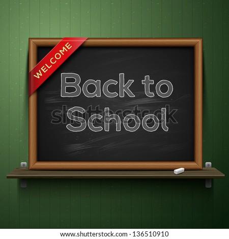 back to school  blackboard on