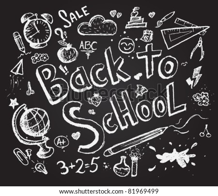 Back to school chalkboard sketch