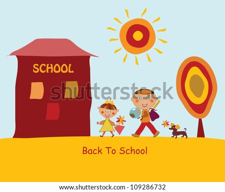 Back to school concept illustration background