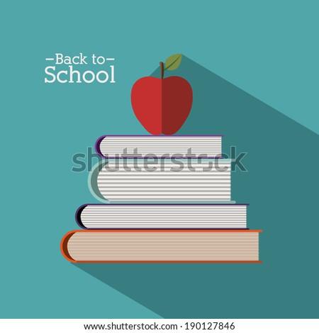 Back to school design over blue background vector illustration
