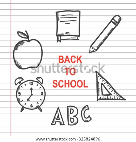 back to school doodle