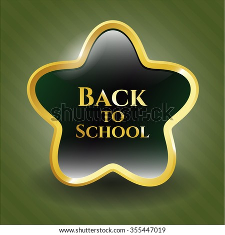 Back to School golden emblem