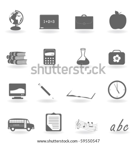 Back to school icon set