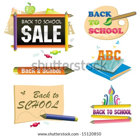 Back to school - icon set 1.  To see similar, please VISIT MY GALLERY.