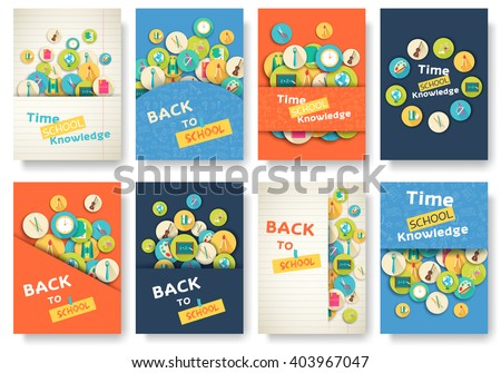 Back to school template download free vector art stock graphics back to school information pages set education template of flyear magazines posters pronofoot35fo Images