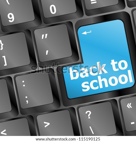 Back to school key on computer