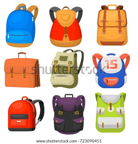 Back to School kids school backpack vector illustration ストックフォト ©