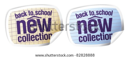 Back to school - new collection stickers set.
