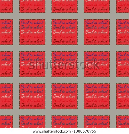 Back to school, new seamless pattern for background. Decorative backdrop can be used for wallpaper, pattern fills, web page background, surface textures. Memphis style for fashion