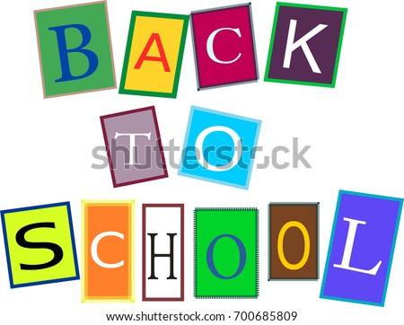 Back To School Phrase Collage Ez Canvas